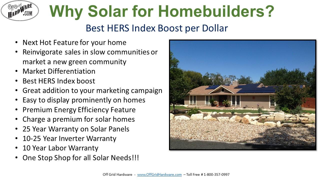 Solar Home Builder Program Off Grid Hardware